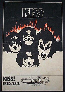 Affischen från Grönan-konserten jag inte var på.